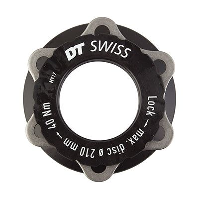 DT SWISS BRAKE PART DT DISC ADAPTER MTB CL TO 6B f/15mm AXLE BK (J)