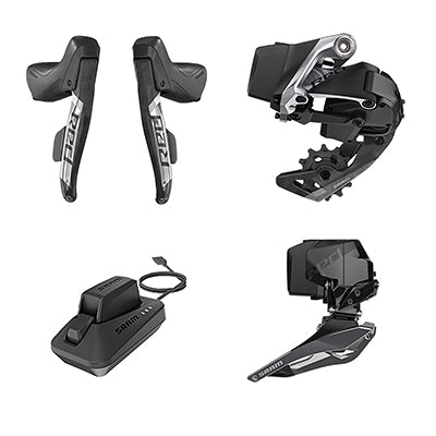 SRAM GROUP KIT SRAM ETAP AXS 2X RED AXS ROAD SHIFTER/RD & BATTERY/FD & BATTERY/CHARGER & CORD