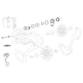 SRAM XX1 Eagle AXS Bolt and Screw Kit B-Bolt/Washer B-Screw and Limit Screws Kit