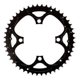 Truvativ 48T 9 sp BCD 104mm 4-Bolt Outer Chainring For 26/36/48 Aluminum Black 11.6215.090.000