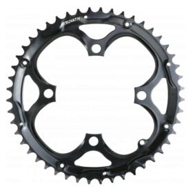 Truvativ 48T 9 sp BCD 104mm 4-Bolt Outer Chainring For 28/38/48 Steel Black 11.6215.018.000