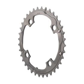 Truvativ 36T 9 sp BCD 104mm 4-Bolt Outer Chainring For MTB double Aluminum Grey 11.6215.132.000