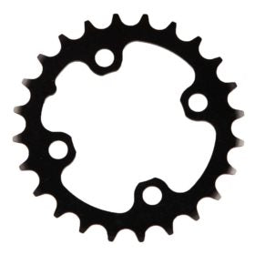 Truvativ 24T 9 sp BCD 64mm 4-Bolt Inner Chainring For MTB triple Aluminum Black 11.6215.093.000