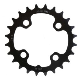 Truvativ 24T 9 sp BCD 64mm 4-Bolt Inner Chainring For MTB triple Steel Black 11.6215.066.000