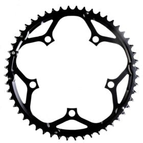 Truvativ 52T 10 sp BCD 130mm 5-Bolt Outer Chainring For 30/42/52 Steel Black 11.6215.104.000