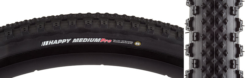 KENDA TIRES KEN HAPPY MEDIUM PRO 700x32 BK/BK DTC/120 FOLD 85psi