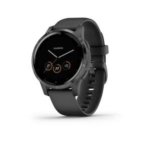 Garmin vivoactive 4S Watch Watch Color: Slate Wristband: Black - Silicone 010-02172-11