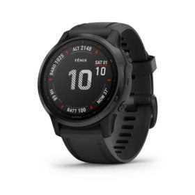 Garmin fenix 6S Pro Watch Watch Color: White Wristband: White - Silicone 010-02159-10