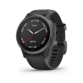 Garmin fenix 6S Sapphire Watch Watch Color: Grey Wristband: Black - Silicone 010-02159-24