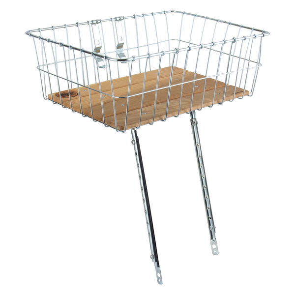 WALD PRODUCTS BASKET WALD 1392WW STD LARGE-18x13x6 WOODY w/MULTIFIT BRACES + 2pc HB CLAMPS FOR UP TO 31.8mm HB