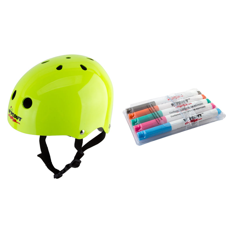 TRIPLE EIGHT HELMET TRIPLE8 WIPEOUT SKATE/BIKE YOUTH-MD N-GN