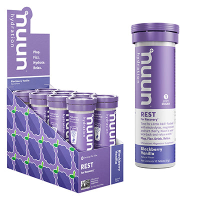 NUUN FOOD NUUN REST RECOVERY BLACKBERRY VANILLA BX OF 8