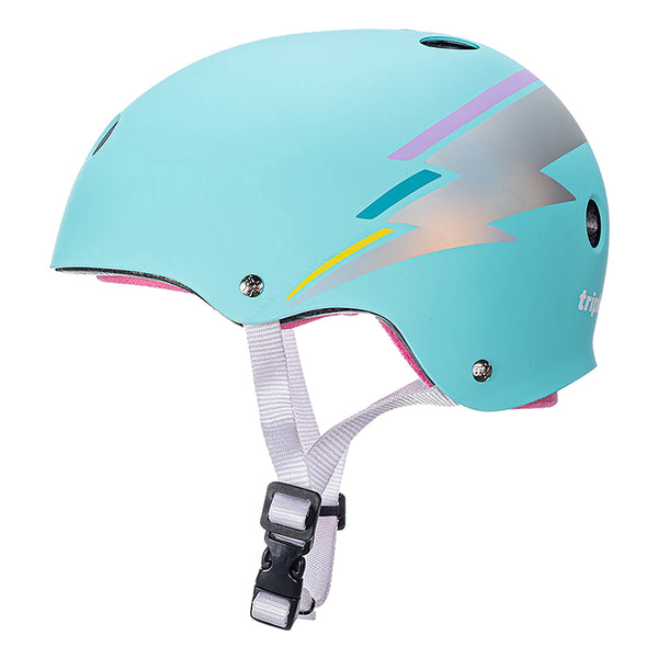 TRIPLE EIGHT HELMET TRIPLE8 THE CERT SWEATSAVER XS-SM TEAL HOLOGRAM