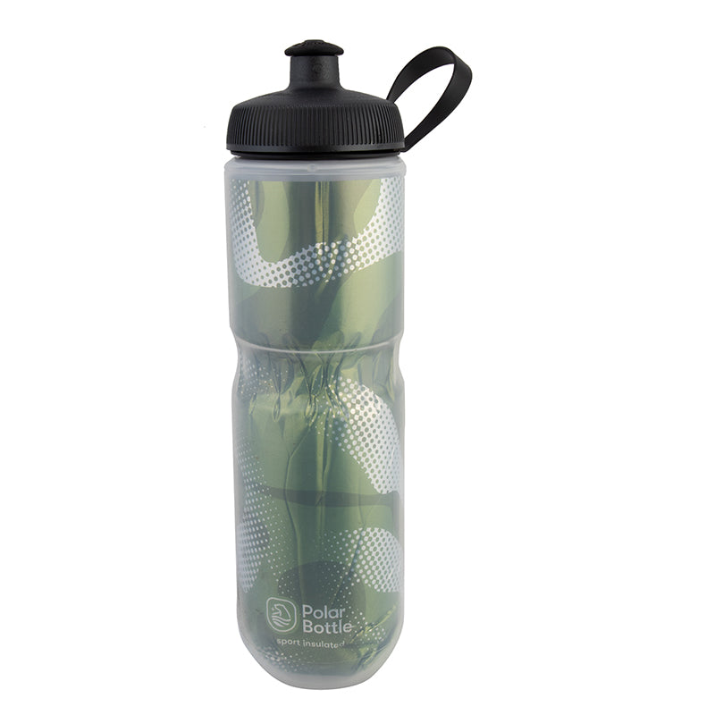 POLAR BOTTLE POLAR SPORT INSULATED 24oz CONTENDER OLIVE/SL