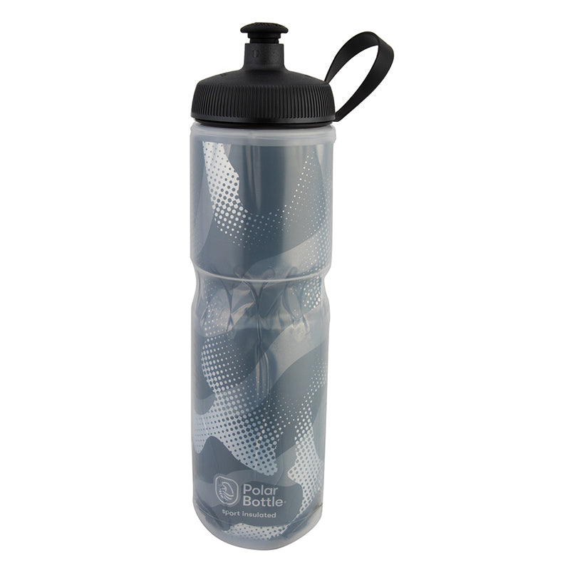 POLAR BOTTLE POLAR SPORT INSULATED 24oz CONTENDER CHARCOAL/SL