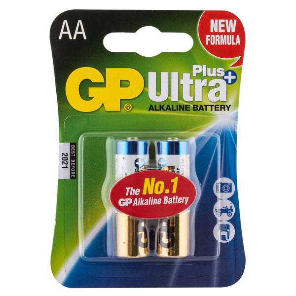 BATTERIES BATTERY ALKALINE AA PKof2
