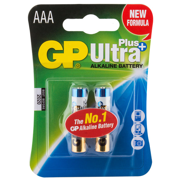 BATTERIES BATTERY ALKALINE AAA PKof2