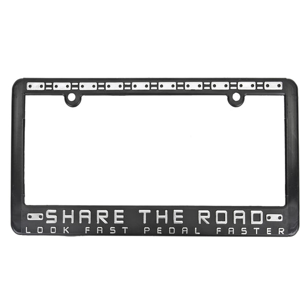 SHARE THE ROAD LICENSE PLATE FRAME SHARE-THE ROAD