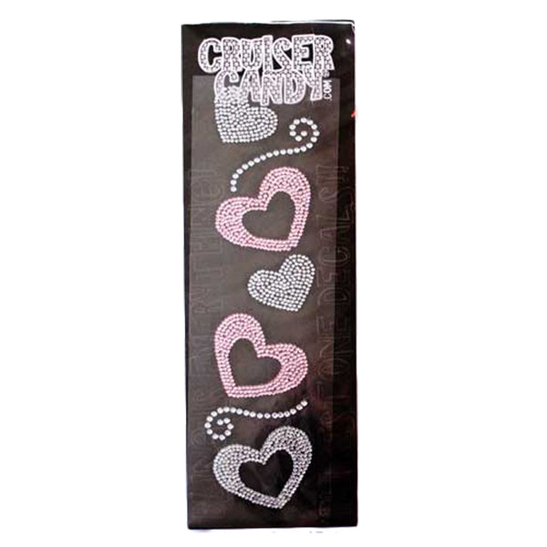 CRUISER CANDY DECALS C-CANDY RHINESTONE HEARTS
