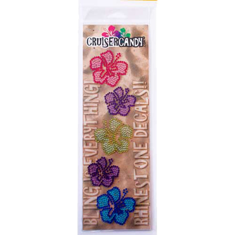CRUISER CANDY DECALS C-CANDY RHINESTONE HIBISCUS FLOWERS