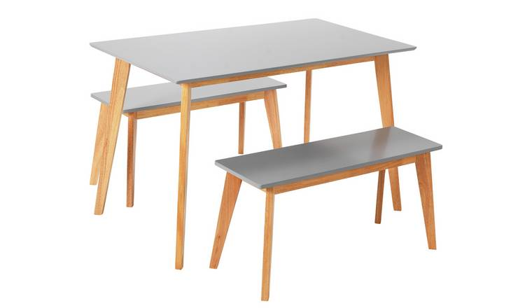 Harlow Dining Table + Bench Set