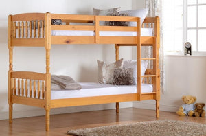 Albany Solid Pine Bunk Bed + 2 Sprung Mattresses