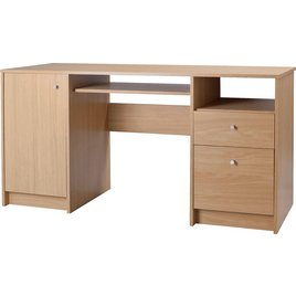 Calgary 2 Drawer Desk - Oak Effect