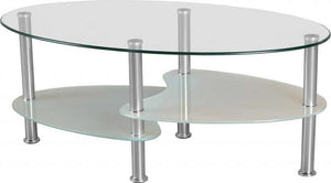 Cara Coffee Table - Clear Glass