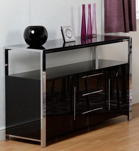 Charisma 2 Door 3 Drawer Sideboard - Black Gloss