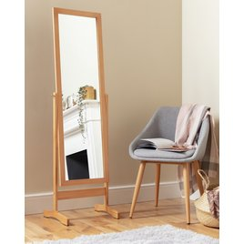 Free Standing Cheval Mirror - Oak