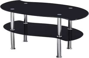 Colby Coffee Table - Black Glass