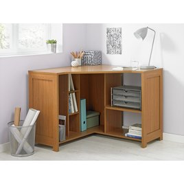 Conrad Corner Office Desk - Oak Effect