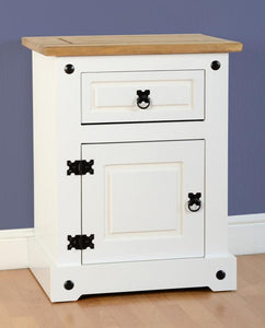 Corona 1 Drawer 1 Door Bedside Cabinet