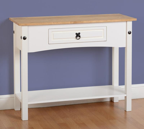 Corona 1 Drawer Console Table with Shelf