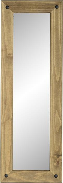 Corona Long Wall Mirror - Distressed Waxed Pine