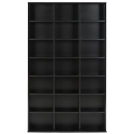 Black Jorvik DVD and CD Storage Unit