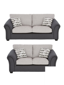 3 Seater + 2 Seater Quartz Fabric Sofa Set