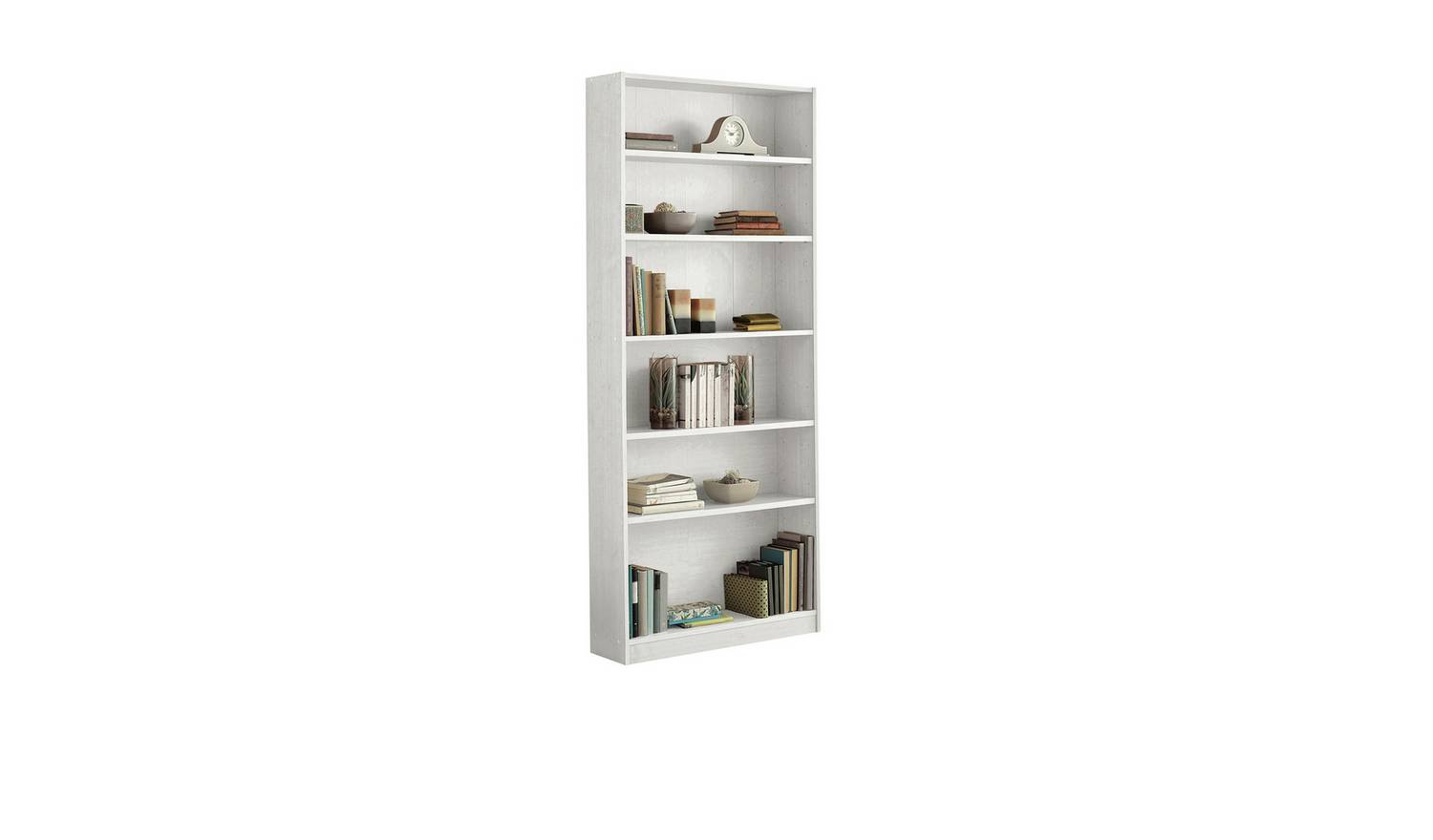 White Tall Deep Bookcase