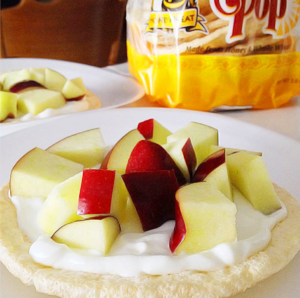 Apple Slices with Greek Yogurt
