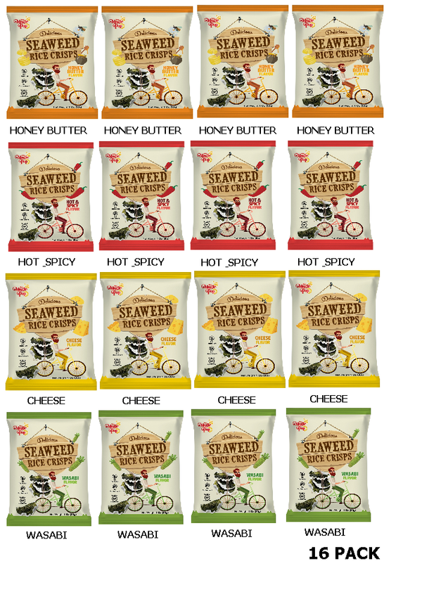 Seaweed Rice Crisps - Combo Pack -16 pack-Kim's Magic Pop