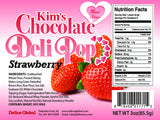 ♥ Heart Strawberry  - Kim's Chocolate Deli Pop - 8 cases
