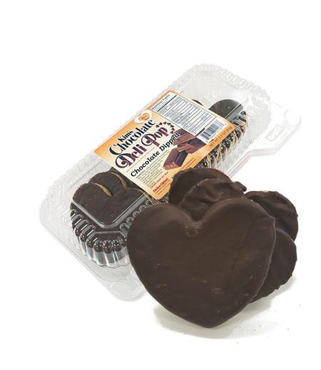 ♥ Heart Choco Dipped- Kim's Chocolate Deli Pop - 8 cases