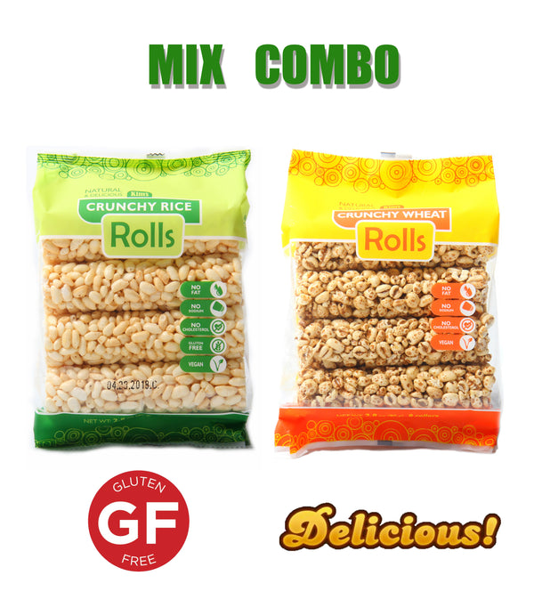 KIM'S MAGIC POP Crunch Roll Whole Wheat & Rice Flavor Mix Combo