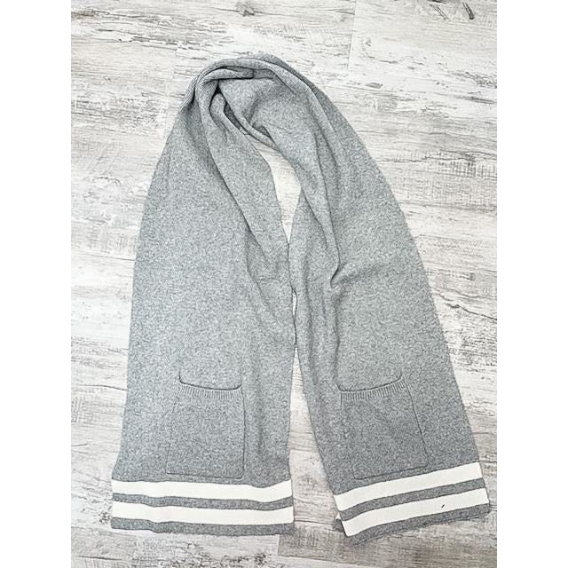 Striped Scarf With Pocket