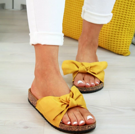 Butterfly Bow Slip on Sandals(buy 2 get free shipping)