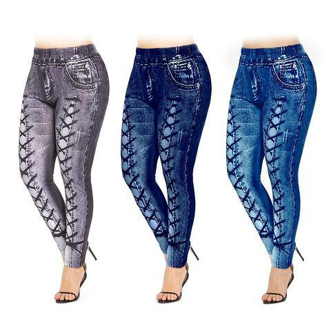 Plus size 3D printing Jegging(buy 2  get free shipping)