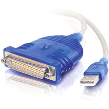 Load image into Gallery viewer, C2G 6ft USB to DB25 Serial RS232 Adapter Cable