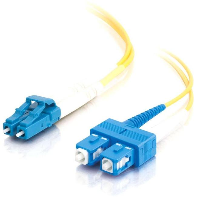 C2G 2m LC-SC 9-125 Duplex Single Mode OS2 Fiber Cable - Yellow - 6ft