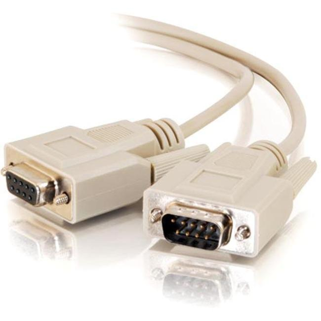 C2G 50ft DB9 M-F Extension Cable - Beige