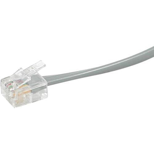 C2G 50ft RJ11 6P4C Straight Modular Cable